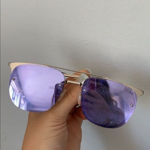 purple quay double rim sunglasses